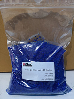 Silica gel blue beads
